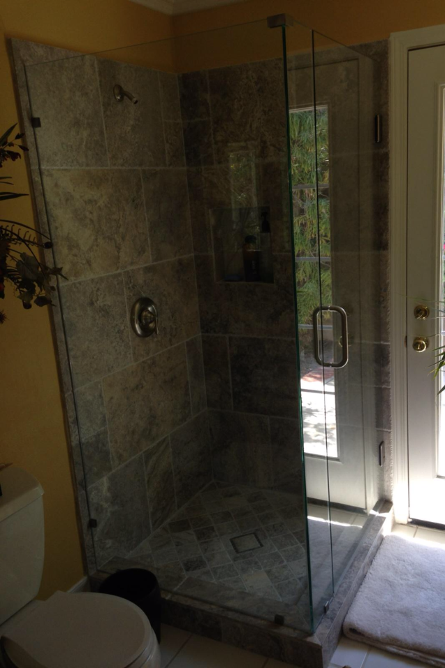 90 Degree Shower Gallery South Coast Glass