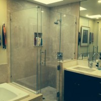 Frameless 90 Degree Shower with 3 Fixed Panels