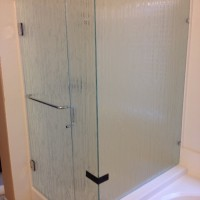 90 Degree Shower with Bamboo Glass and Handle Towel Bar Combo