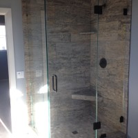 90 Degree Corner Shower with Glass to Glass Hinges in 1/2