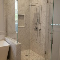 90 Degree Shower with Step. 3/8