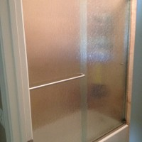 Bypass Sliding Shower with Rain Glass