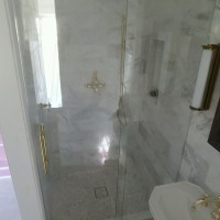 EZ Slide Shower in Brass Hardware and 1/2