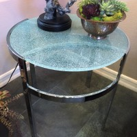 Laminated Cracked Glass Table Top