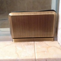 Pivot Hinge in Antique Brass Finish