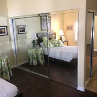 Mirrored Closet Doors with Mirrored Fascia