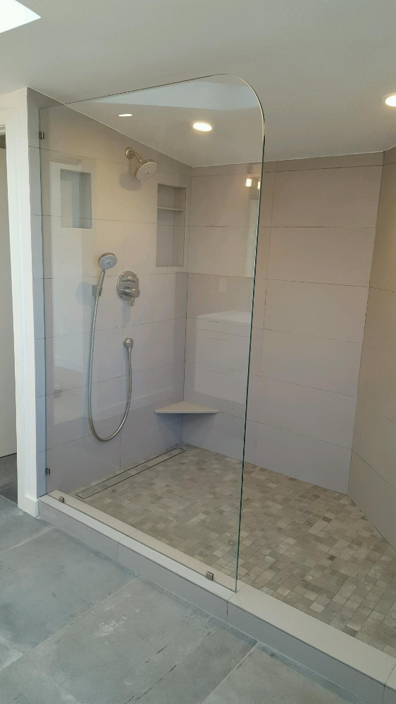 Fixed Panel Shower Glass In 1 2
