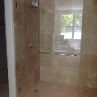 Shower Screen with Inline Wing Panel