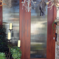 Reeded Glass in a Front Door