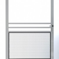 Swinging Screen Door with Pet Grill
